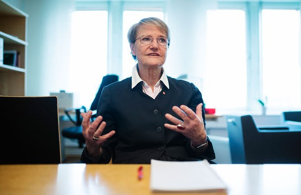 Framtidsminister Kristina Persson. Foto: Vilhelm Stokstad