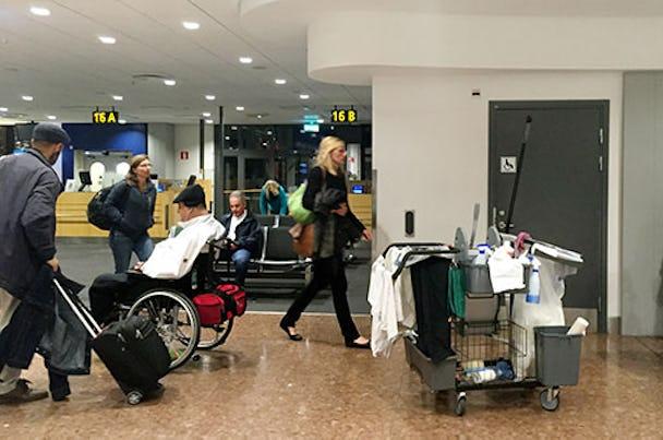 Vem har rätt till städvagnen på Arlanda?
