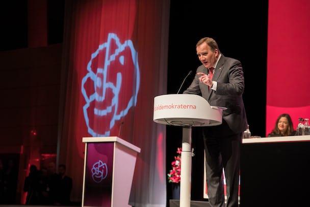 Statsminister Stefan Löfven talar på Socialdemokraternas kongress.