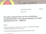 Nya avtalet mellan Kommunal och SKR.