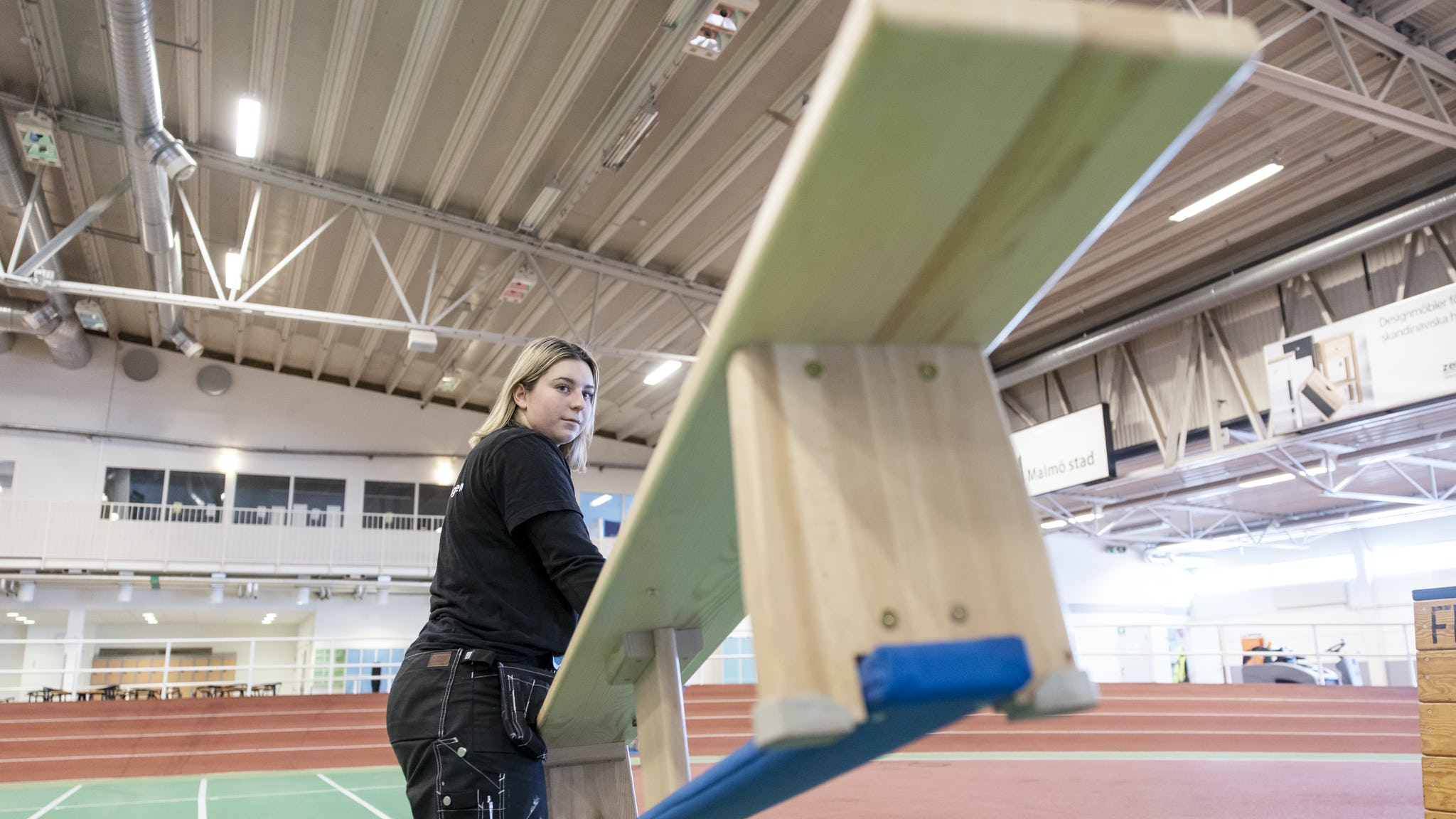 Hanna Nilsson Meier, idrottsplatsvaktmästare.