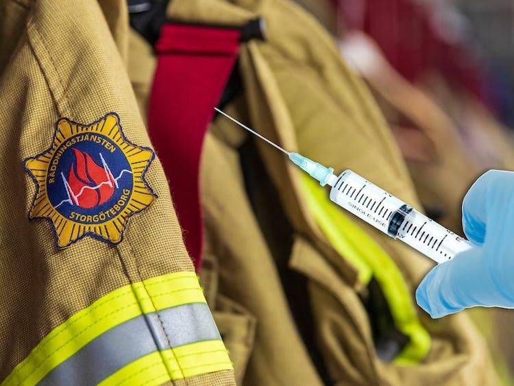 Brandmän i Göteborg vill ha vaccin.