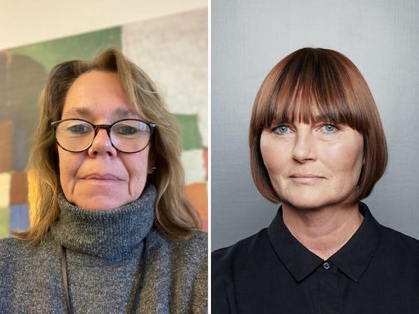 Susanne Johansson, Kommunal, och Eva Ullberg, Socialdemokraterna.