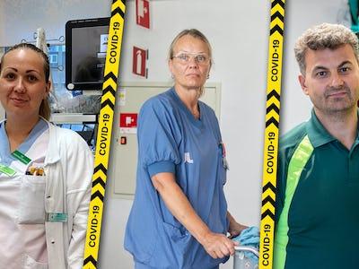 Viktoria Sandström, Katarina Andersson och Ayhan Mehmet.