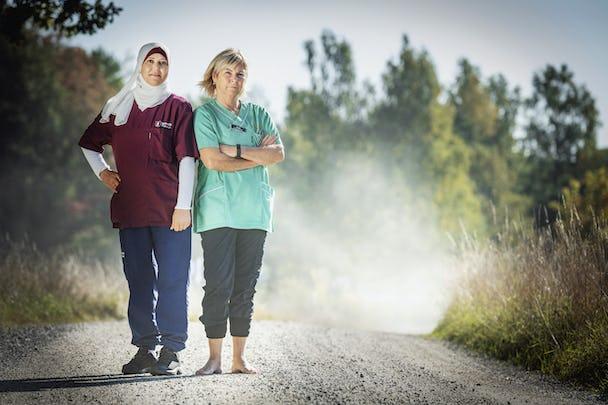 Samia Ahmad och Rosmari Löfdahl.