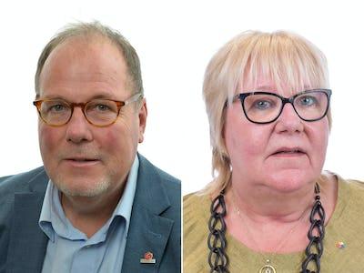 Johan Andersson (S) och Marianne Fundahn (S).