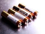 Fyra AA-batterier