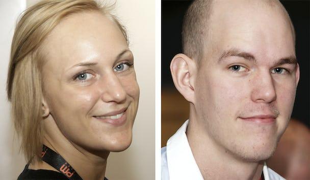 Louise Olsson och Claes Thim kandiderar till att bli ny verksamhetsledare i VK 1 (El-ettan) efter Daniel Lundin som blir ombudsman. Valet sker på årsmötet den 21 mars. Foto: Per Eklund