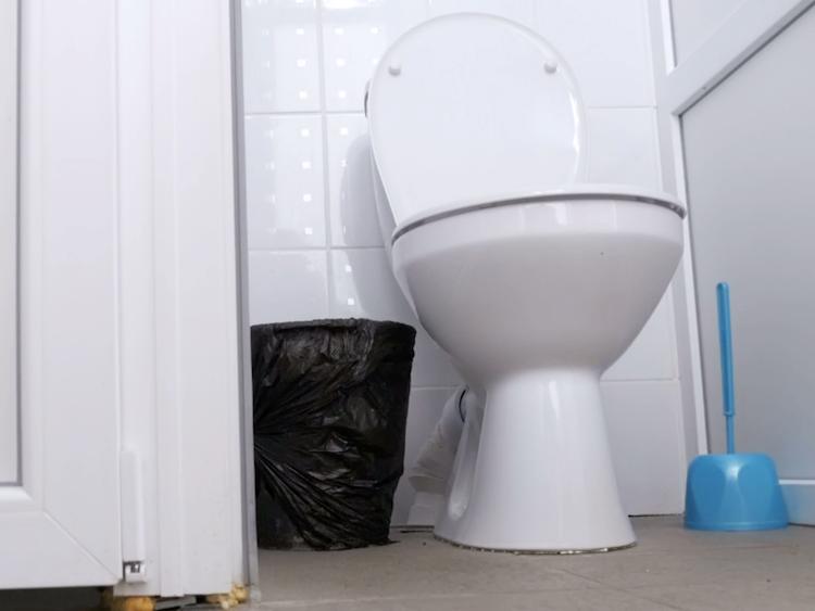 En toalett