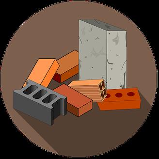 Tecknat byggnadsmaterial