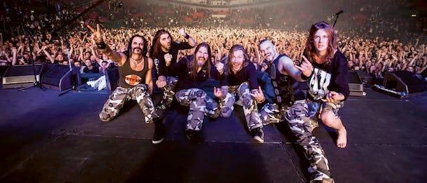 Sabaton är nu ute på en två år lång världsturné som avslutas tillsammans med Iron Maiden i USA i höst. Skivan Carolux Rex är en milstolpe i bandets karriär. FOTO: PRESSBILD