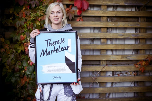 Therese Marteleur fick Isabellestipendiet. Foto: Maria Marteleur