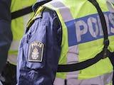 En uniformerad polis.