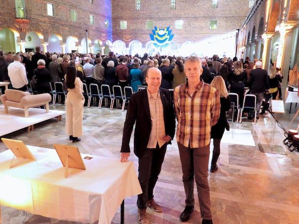 Lasse Wimnell och Mats Berenfeldt under utdelningen