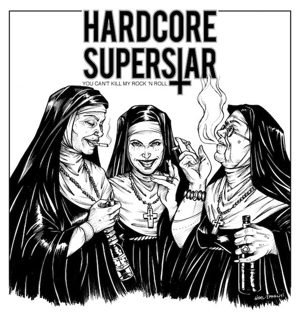 """Skivomslaget till Hardcore Superstars skiva """"You Can't Kill My Rock 'n Roll"""""""