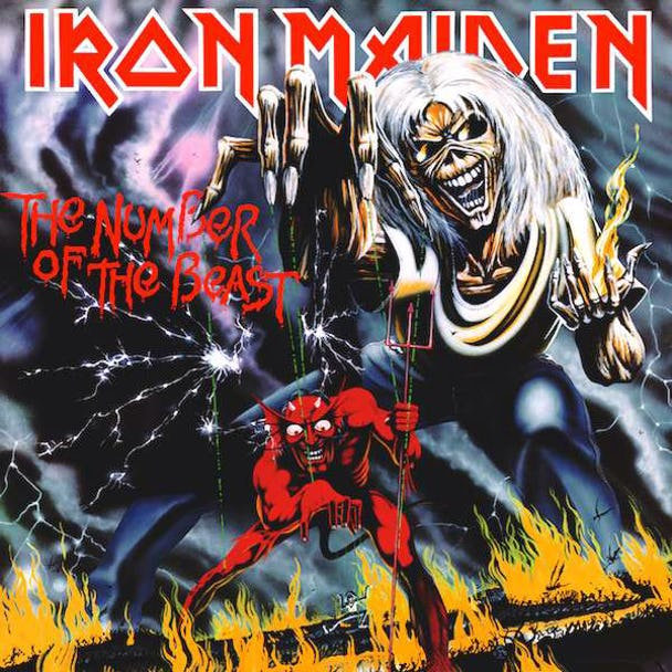 """Skivomslaget till Iron Maidens """"The Number of the Beast"""""""