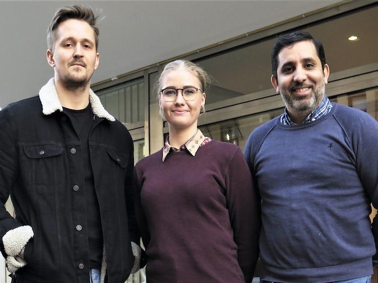 Jakob Nilsson, Sofia Edström och Jamal El Mourabit.