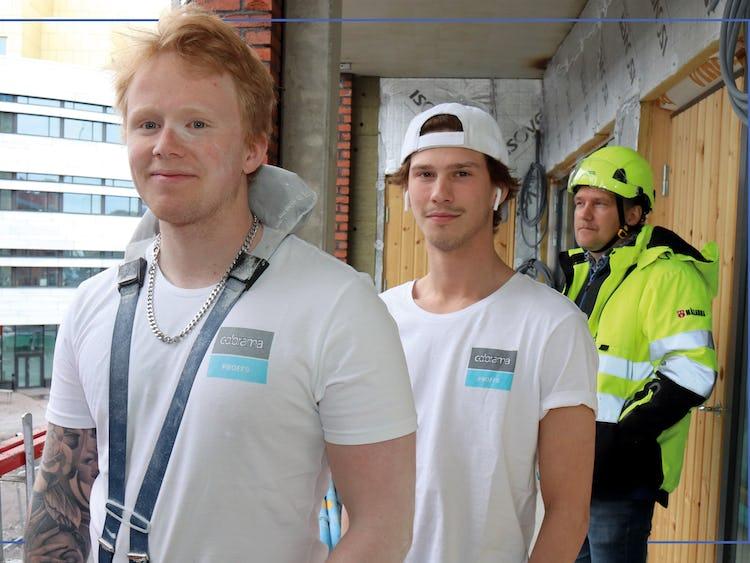 Rickard Johansso, Tobias Rånes och Jan-Crister Riggo på en loftgång